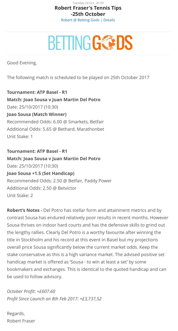 Robert Fraser Tennis 25th October